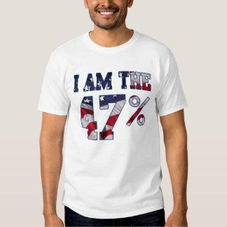 Soy la camiseta de la bandera americana del por poleras