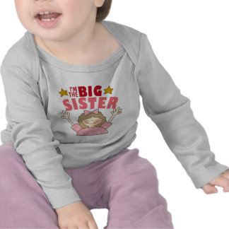 Soy la camiseta del bebé de la hermana grande