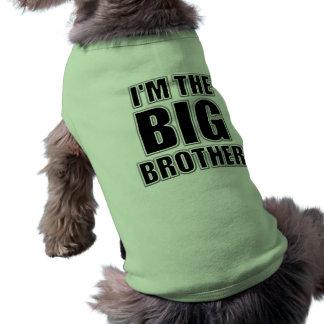 Soy la camiseta del perro de hermano mayor playera sin mangas para perro