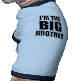 Soy la camiseta del perro de hermano mayor ropa macota