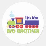 Soy la camiseta del tren de hermano mayor etiqueta redonda