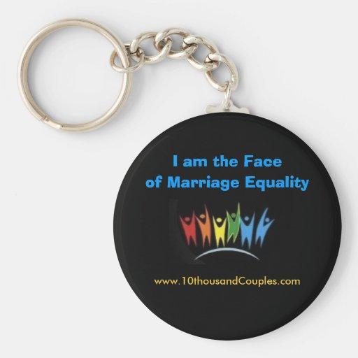 Soy la cara de la igualdad de la boda llaveros