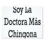 "Soy La Doctora Mas Chingona 4.25"" X 5.5"" Invitation Card"