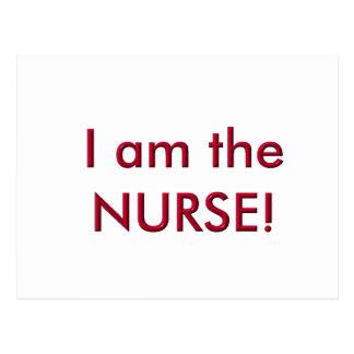 Soy la enfermera tarjetas postales