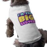 Soy la hermana grande camisetas de perrito