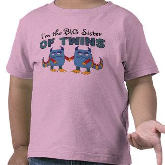 Soy la hermana grande de gemelos camisetas