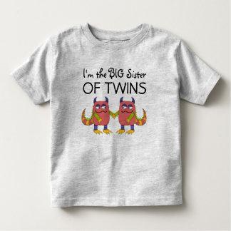 Soy la hermana grande de gemelos playera de bebé