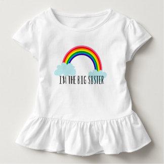 Soy la hermana grande que el arco iris Toddle la Playera De Bebé