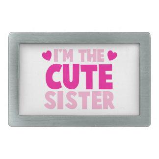 ¡Soy la hermana LINDA! Hebillas De Cinturon Rectangulares