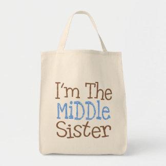 Soy la hermana media azul bolsas de mano