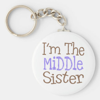 Soy la hermana media (púrpura) llavero redondo tipo pin