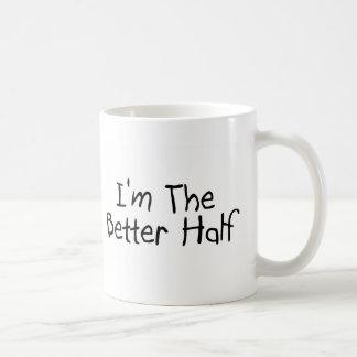 Soy la mejor mitad taza de café
