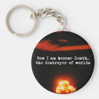 Soy la muerte convertida el destructor de mundos llavero personalizado