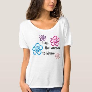 Soy la mujer para culpar la camiseta