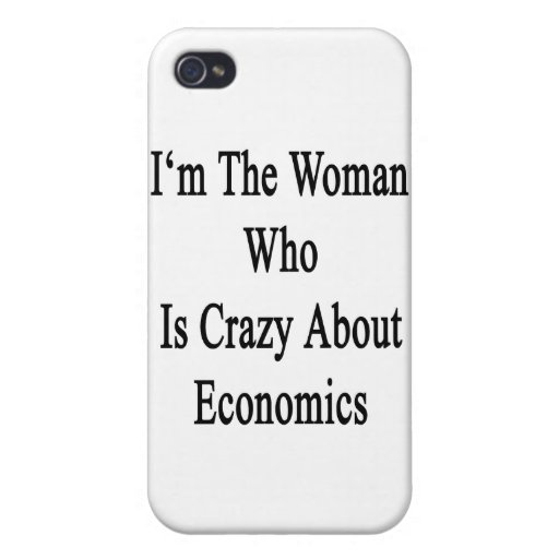 Soy la mujer que está loca por la economía iPhone 4 cárcasas