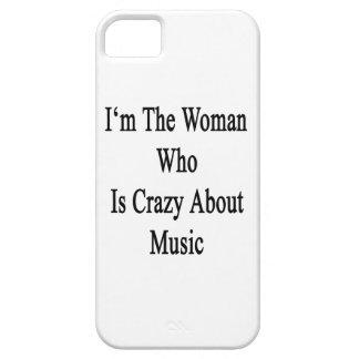 Soy la mujer que está loca por música iPhone 5 carcasas