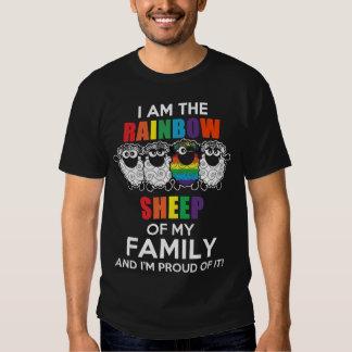 Soy la oveja del arco iris de mi Family&I Playera