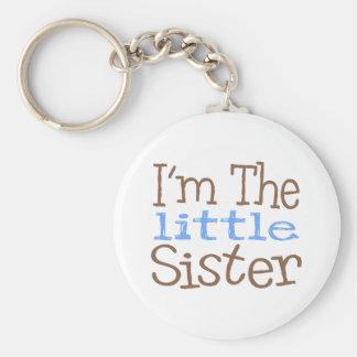 Soy la pequeña hermana (azul) llavero redondo tipo pin