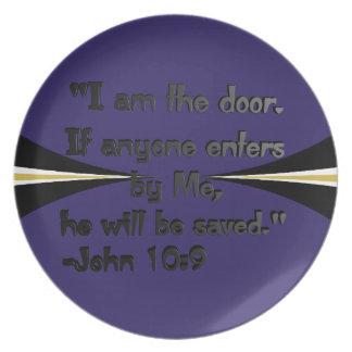 Soy la placa de la puerta platos
