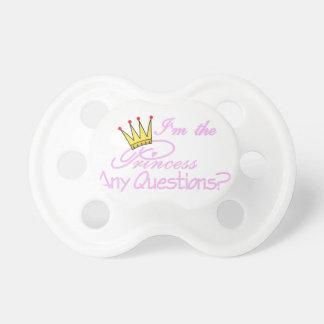 Soy la princesa chupetes de bebé