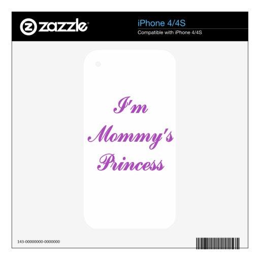 Soy la princesa de la mamá calcomanías para iPhone 4S