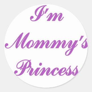 Soy la princesa de la mamá etiqueta redonda