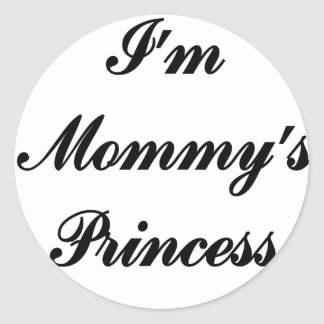 Soy la princesa de la mamá pegatina redonda