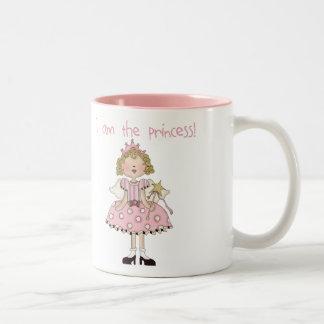 Soy la princesa taza de dos tonos