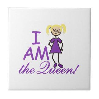 Soy la reina azulejo cuadrado pequeño