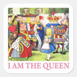 Soy la reina pegatinas cuadradases