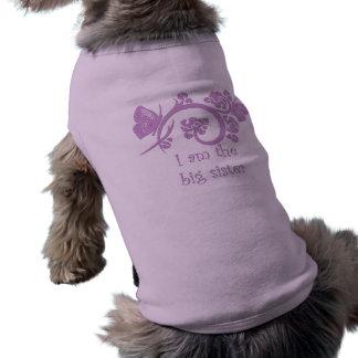 Soy la ropa púrpura del mascota de la hermana playera sin mangas para perro