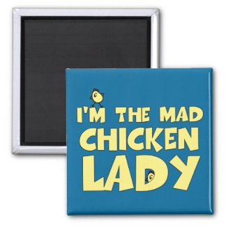 Soy la señora enojada del pollo iman de nevera
