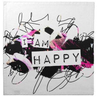 soy la sensación feliz Good.Be Happy.Tell el mundo Servilleta
