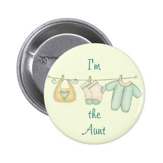 Soy la tía Proud Family de recién nacido Pin Redondo De 2 Pulgadas