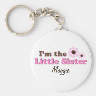 Soy las flores de la MOD de la pequeña hermana per Llavero Redondo Tipo Pin