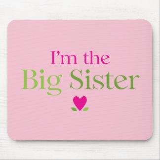 Soy las flores del corazón de la hermana grande tapetes de raton