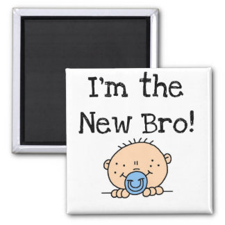 Soy las nuevos camisetas y regalos de Bro Imán Cuadrado