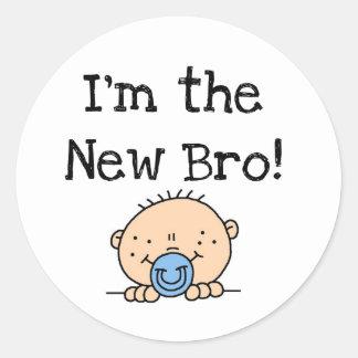 Soy las nuevos camisetas y regalos de Bro Pegatina Redonda