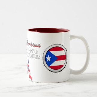 Soy latinoamericano taza de dos tonos