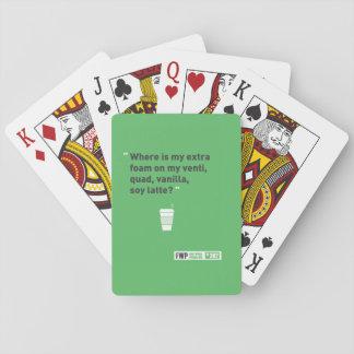 Soy Latté Poker Cards