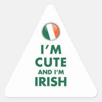 Soy LINDO Y soy IRLANDÉS Pegatinas De Triangulo Personalizadas