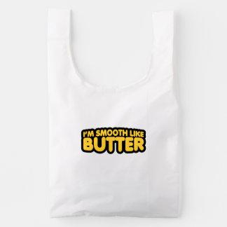 Soy liso como la mantequilla bolsa reutilizable