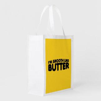Soy liso como la mantequilla bolsas reutilizables