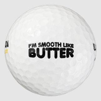 Soy liso como la mantequilla pack de pelotas de golf