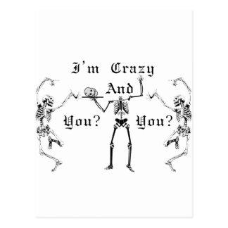 ¿Soy loco y usted? Tarjeta Postal