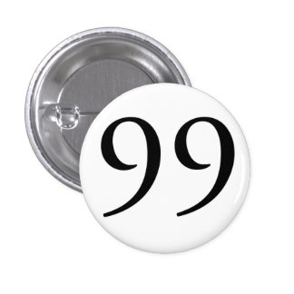 Soy los 99 (BLANCO) Pin Redondo De 1 Pulgada