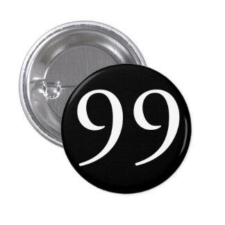 Soy los 99 (el negro) pin redondo de 1 pulgada