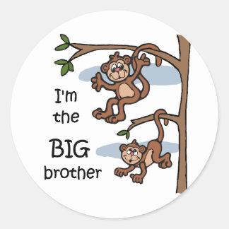 Soy los pegatinas de hermano mayor pegatina redonda