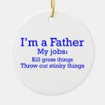 Soy los trabajos de un padre divertido del padre p adorno