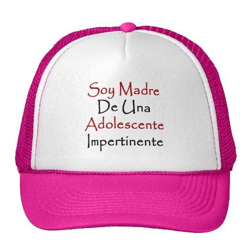 Soy Madre De Una Adolescente Impertinente Mesh Hats